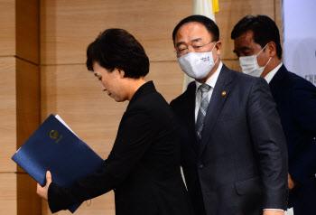 8·4 부동산 대책 브리핑 마친 홍남기-김현미-서정협