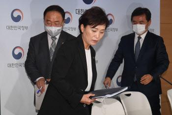 부동산 대책 브리핑 마친 홍남기-김현미-서정협