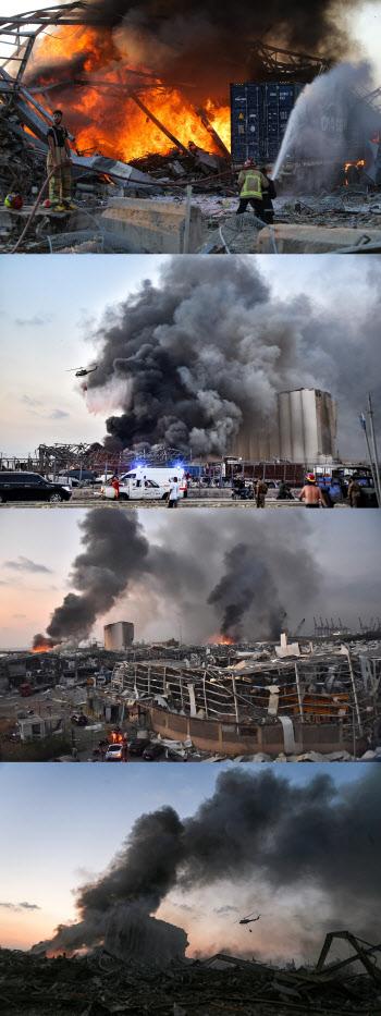 """'4000명 사상' 레바논 베이루트 폭발...""""지진·핵폭발 같았다"""""""