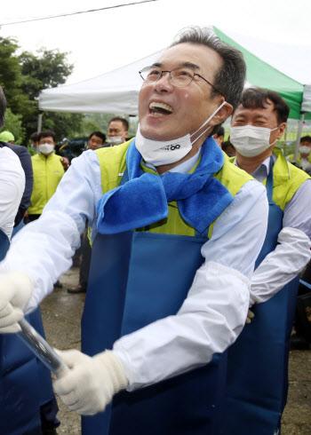 이성희 농협회장, '봉사는 즐거워...'