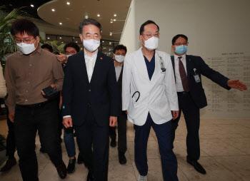 전공의 파업, '신촌 세브란스 병원 찾은 박능후 장관'