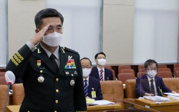 거수경례하는 서욱 국방장관 후보자