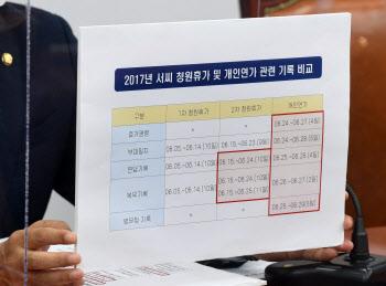 추미애 장관 아들의 특혜 휴가 의혹 관련 긴급 기자회견하는 국민의힘
