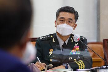 질의에 답하는 서욱 국방장관 후보자